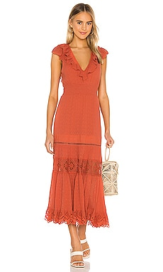 Daisy Chain Frill Maxi Dress Spell & The Gypsy Collective $269