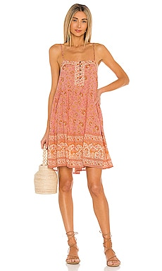Sundown Strappy Mini Dress Spell $179 NEW