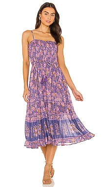Juniper Shirred Strappy Dress SPELL $249 NEW