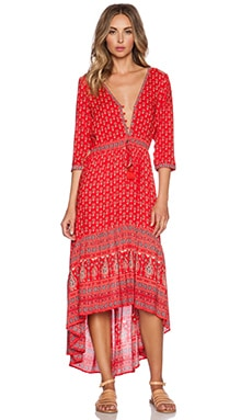 Spell & The Gypsy Collective Gypsiana Maxi Dress in Red Bandana