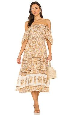 Juniper Shirred Dress SPELL $259 Sustainable