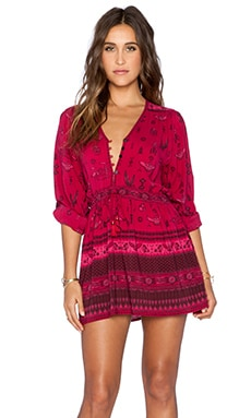 Spell & The Gypsy Collective Phoenix Play dress in Magenta