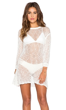 Spell & The Gypsy Collective Slouchy Knit Dress in White