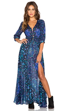 Spell & The Gypsy Collective Kiss The Sky Gown in Bluejay