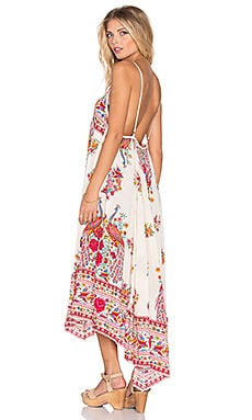 Spell & The Gypsy Collective Hotel Paradiso Strappy Maxi Dress in Pearl