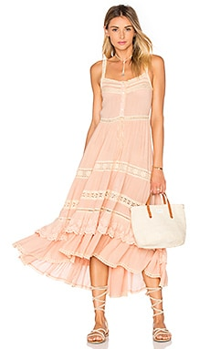 Spell & The Gypsy Collective Prairie Sun Dress in Peach
