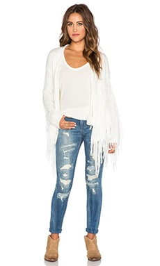 Spell & The Gypsy Collective Leila Tassel Cardigan in Off White