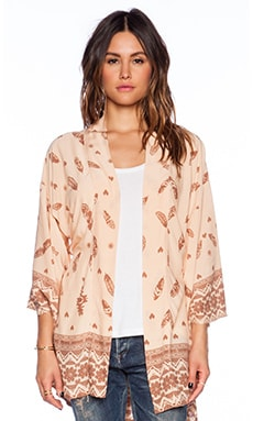 Spell & The Gypsy Collective Skill Tribe Kimono in Cream