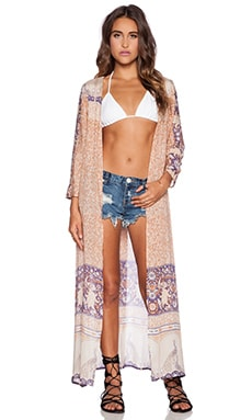 Spell & The Gypsy Collective Xanadu Duster in Gold Dust