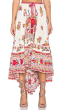 Spell & The Gypsy Collective Hotel Paradiso Castaway Skirt in Pearl