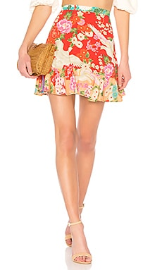 x REVOLVE Delilah Patchwork Mini Skirt