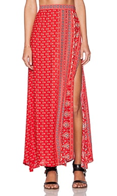 Spell & The Gypsy Collective Gypsiana Maxi Skirt in Red Bandana