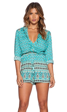 Spell & The Gypsy Collective Gypsiana Romper in Turquoise