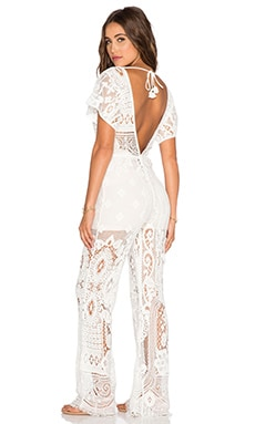Spell & The Gypsy Collective Woodstock Jumpsuit in Off White