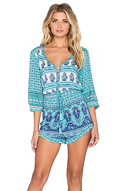 Spell & The Gypsy Collective Sunset Road Romper in Aqua