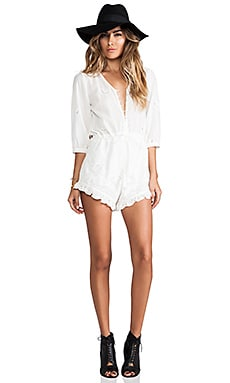 Spell & The Gypsy Collective Indian Summer Playsuit in White