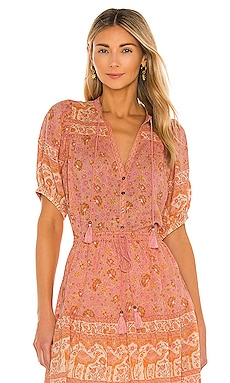Sundown Short Sleeve Blouse Spell $159