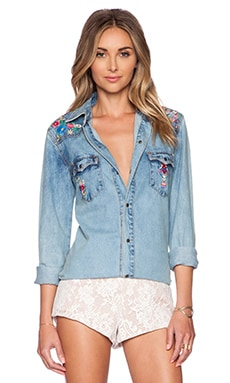 Spell & The Gypsy Collective Love Child Top in Denim