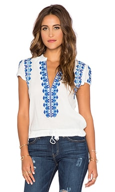 Spell & The Gypsy Collective Santorini Embroidered Blouse in White