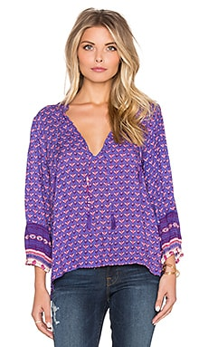 Spell & The Gypsy Collective Sunset Road Blouse in Royal