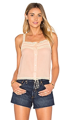 Spell & The Gypsy Collective Prairie Lace Top in Blush