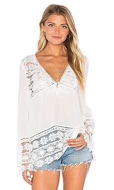 Spell & The Gypsy Collective Sienna Lace Top in Ivory