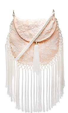 Spell & The Gypsy Collective Aloha Fox Embroidered Bag in Peach