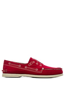 Sperry Top-Sider x Band of Outsiders A/O 3 Eye in Red Canvas
