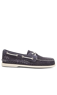 Sperry Top-Sider A/O 2 Eye Laser Perf in Navy