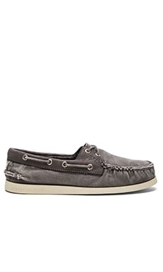Sperry Top-Sider A/O 2 Eye Wedge Canvas in Grey