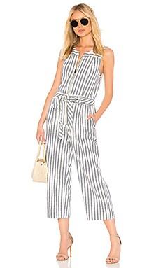 Linen Blend Stripe Jumpsuit Splendid $178