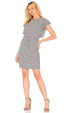 Graph Linen Stripe Dress