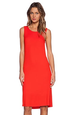 Splendid 2x1 Rib Dress in Firecracker