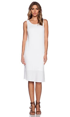 Splendid 2x1 Rib Dress in White