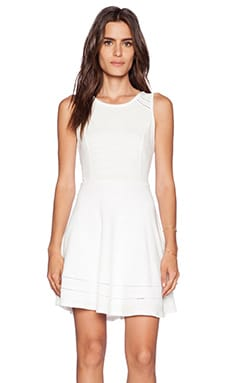 Splendid Terry With Lattice Trim Dress in Pearl