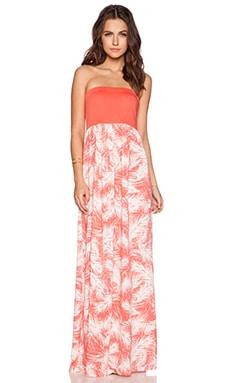 Splendid Palm Fronds Maxi Dress in Guava