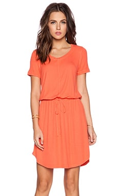 Splendid Short Sleeve Dress in Guava