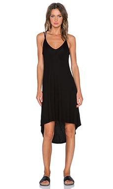 Splendid 2x1 Rib Dress in Black