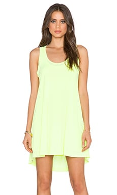 Splendid Vintage Whisper Racerback Dress in Neon Yellow