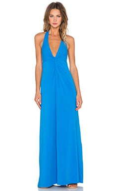 Splendid Jersey Twist Front Maxi Dress in Mediterranean