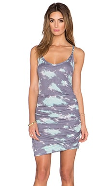 Splendid Cloud Tie Dye Dress in Grey