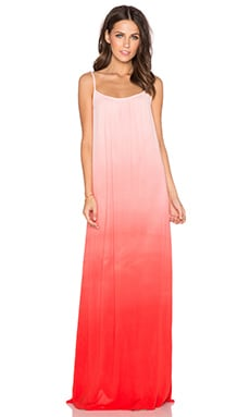 Splendid Ombre Maxi Dress in Poppy Red