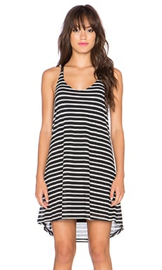 Splendid Valletta Stripe Jersey Tank Dress in Black