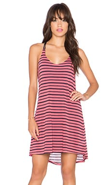 Splendid Valletta Stripe Jersey Tank Dress in Desert Rose