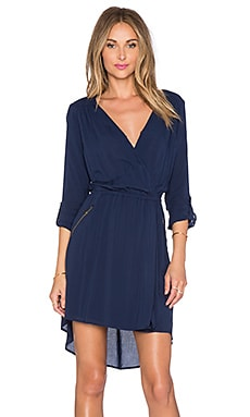 Splendid Surplice Front Dress in Navy