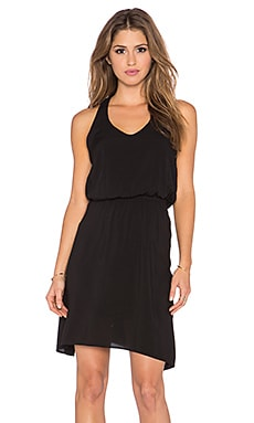 Splendid Asymmetrical Mini Dress in Black