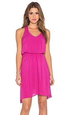 Splendid Asymmetrical Mini Dress in Paradise Pink