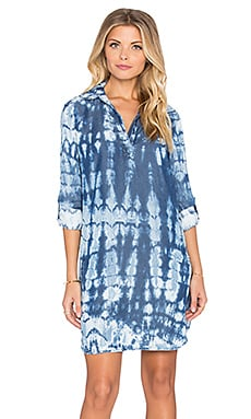 Splendid Neo Indigo Treatment Dress in Indigo Tie Dye