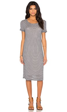 Winward Micro Stripe Shirt Dress in Navy