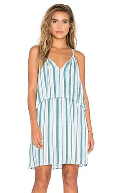 Beachcomber Stripe Dress in Antique Green & Blue Glass